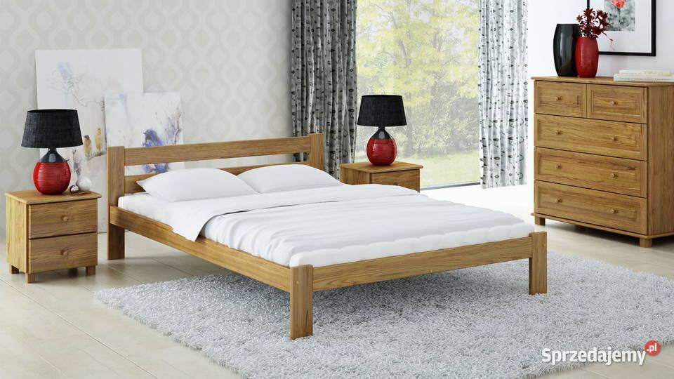 Meble Magnat łóżko drewniane sosnowe Mato 140x200 kolor dąb