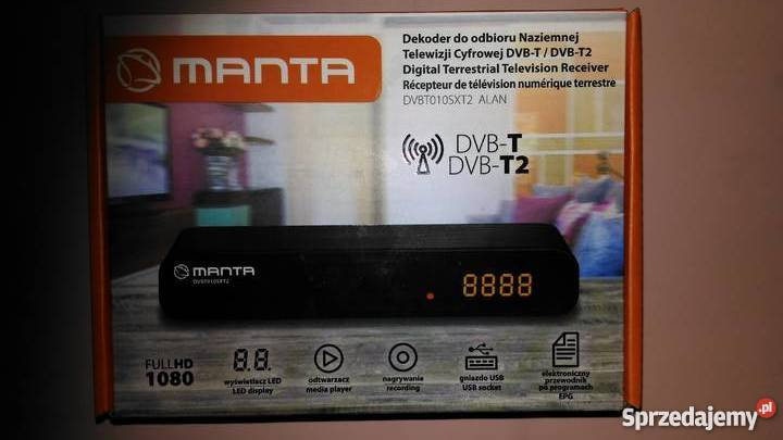 Dekoder tuner DVB-T/DVB-T2 Manta 010SXT2