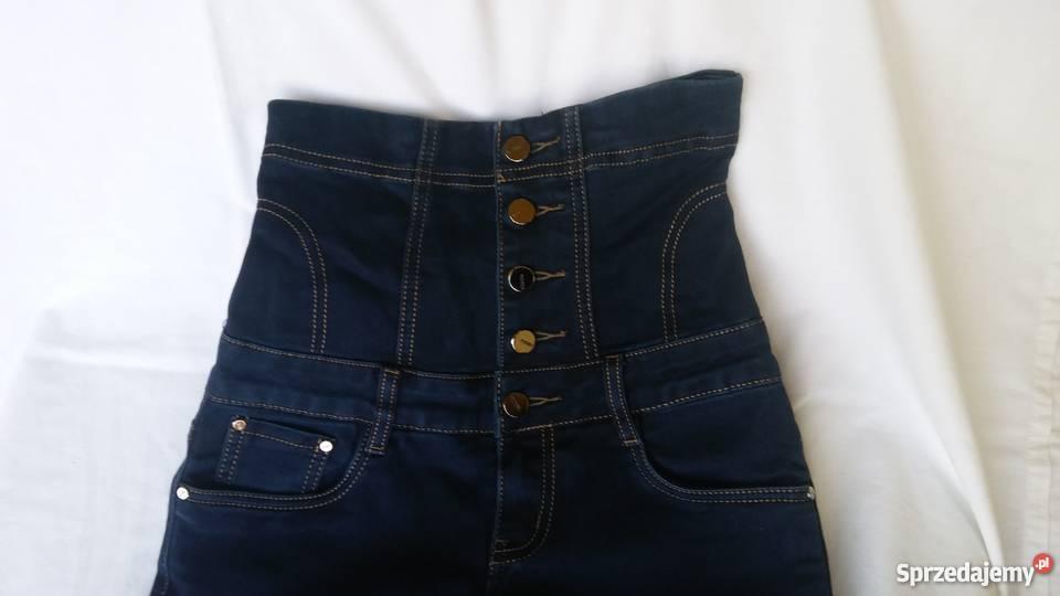 c5de5c9d9b spodnie z wysokim stanem - Sprzedajemy.pl