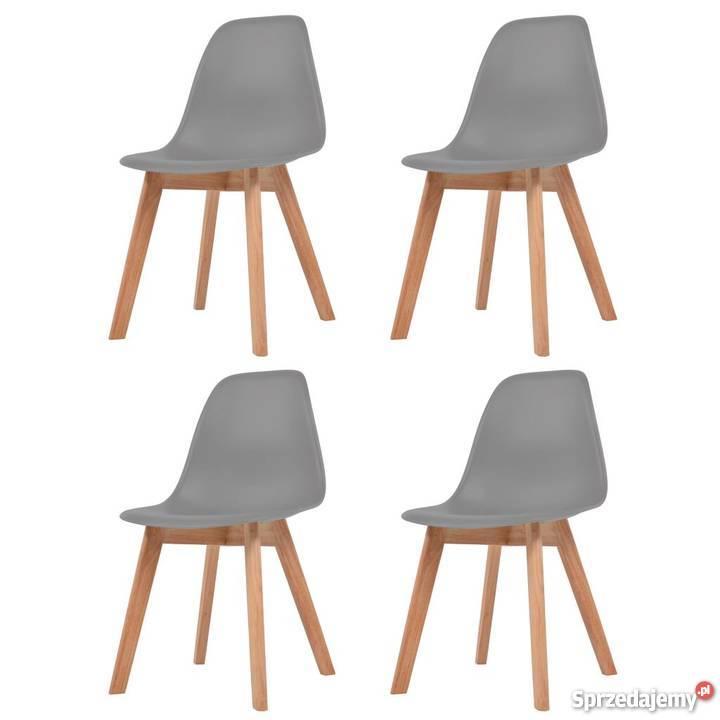 Vidaxl Krzesła Do Jadalni 4 Sztuki Szare 244775