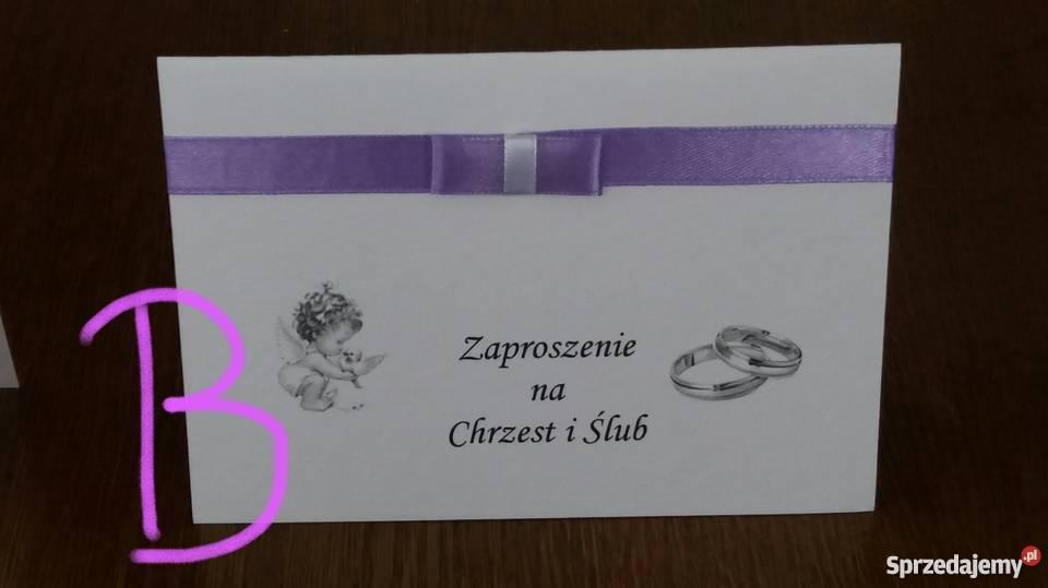 Zaproszenie Na Chrzest I ślub 2 W 1 Zaproszenia Sprzedajemypl