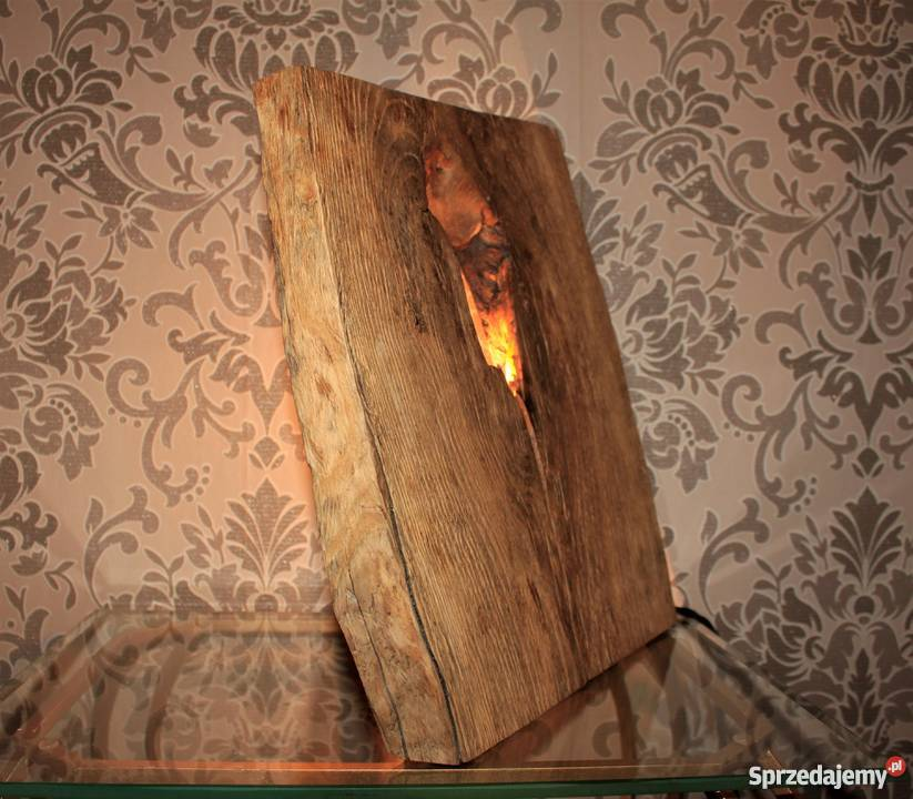 Lampa Wood Industry Metal I Drewno
