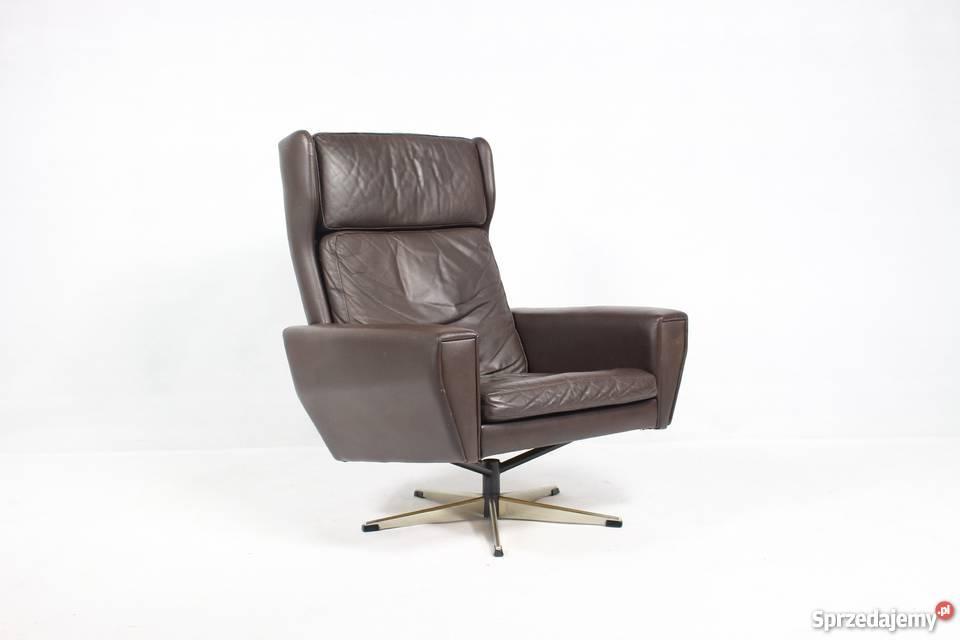 Duński Fotel Obrotowy Projekt Georg Thams Lata 70 Vintage