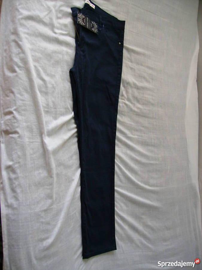 87c012e21a Spodnie damskienowe rozmiar 46 granatowe hit