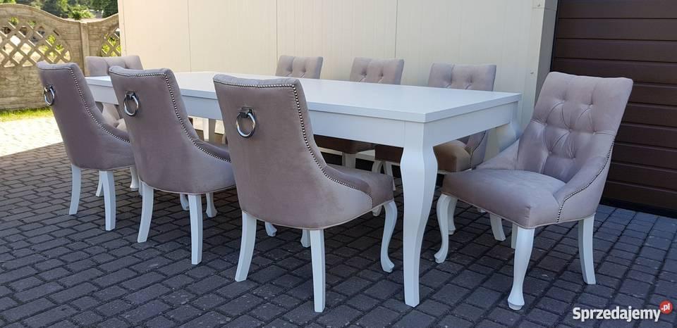 Krzesło nowoczesne tapicerowane pikowane z
