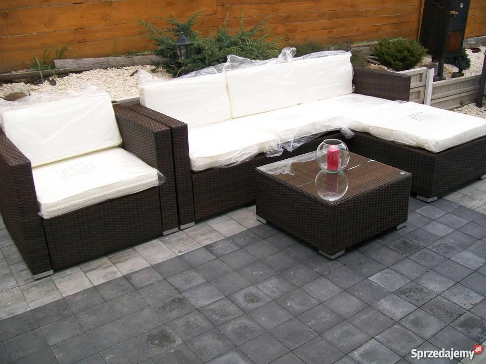 sofa fotel naroznik zestaw mebli technorattan Ogród Bosutów sprzedam