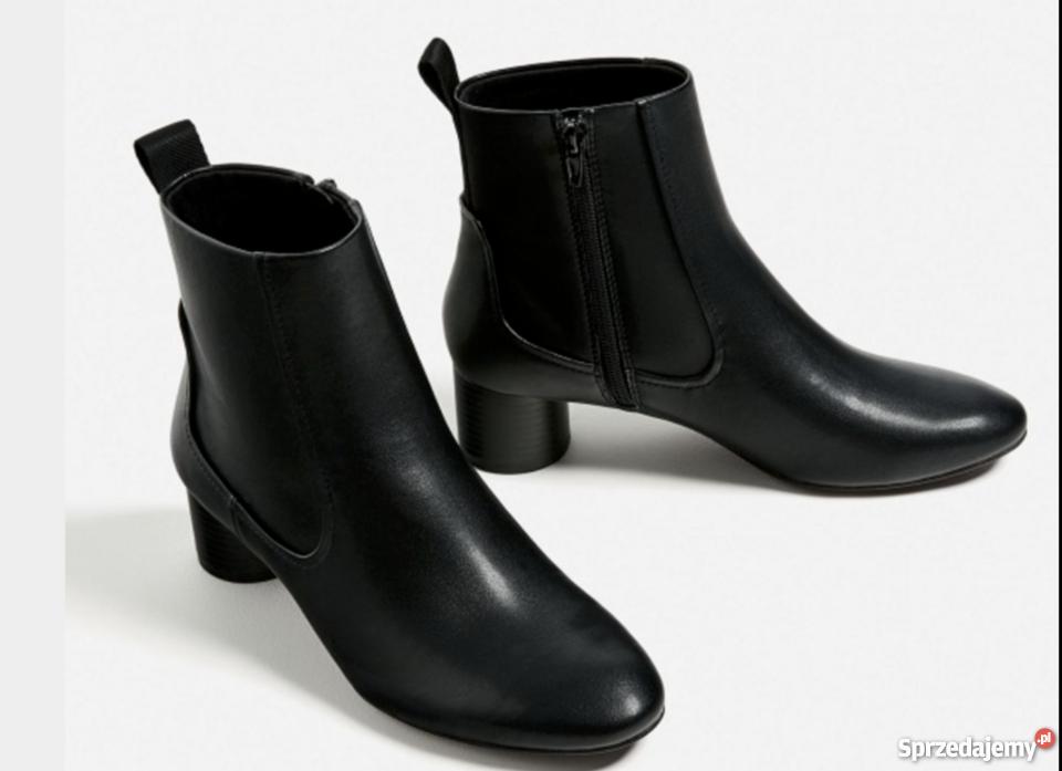 Damskie buty botki firmy ZARA rozmiar 41 nowe skóra