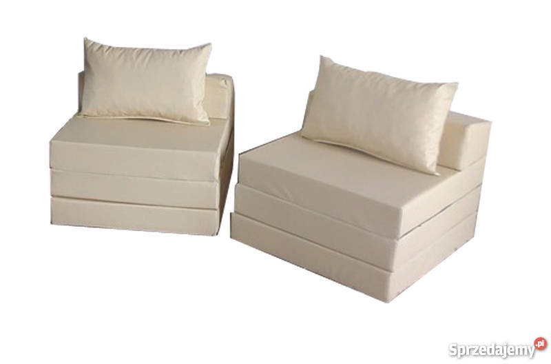 Materac składany rozkładany fotel sofa łóżko skóra ekologiczna Pecna