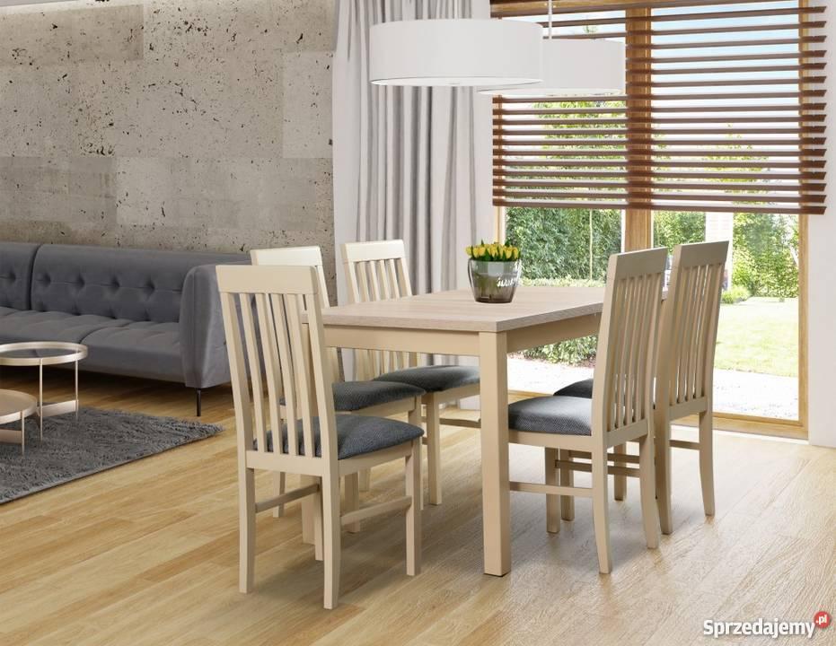 Zestaw Stół 80/120/150 + 6 krzeseł - Promocja!