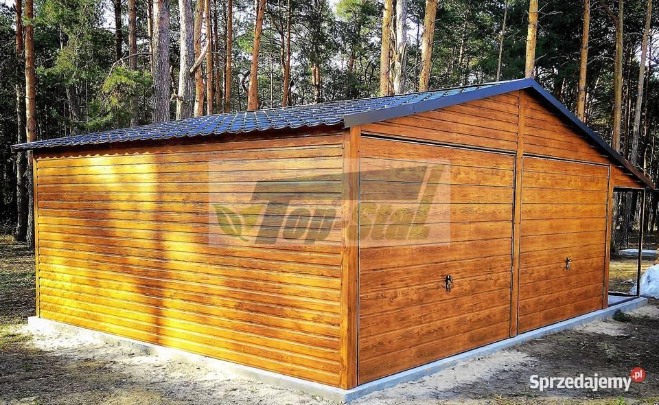 Garaż Blaszany Drewnopodobny na Wymiar HIT Profil Zamknięty