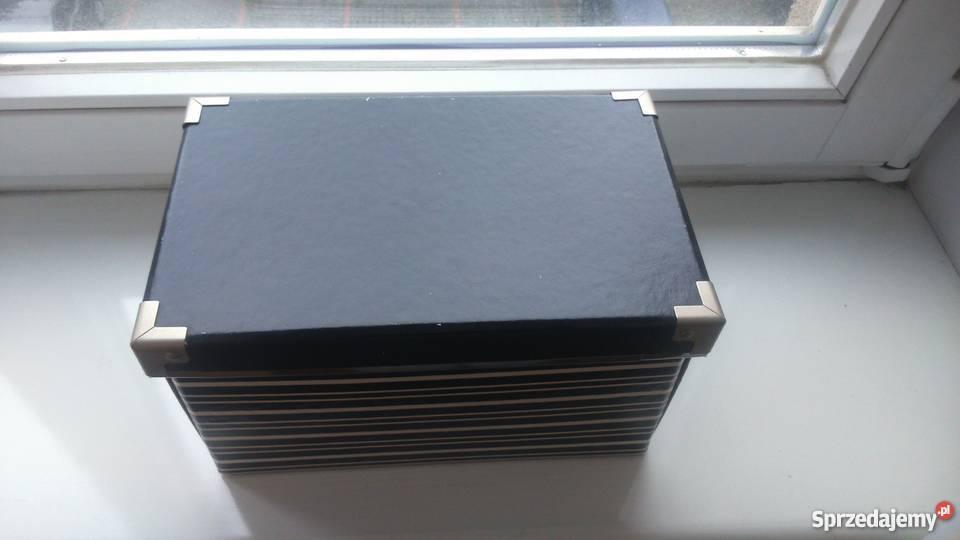 Pudełko W Czarno Białe Paski Z Ikea