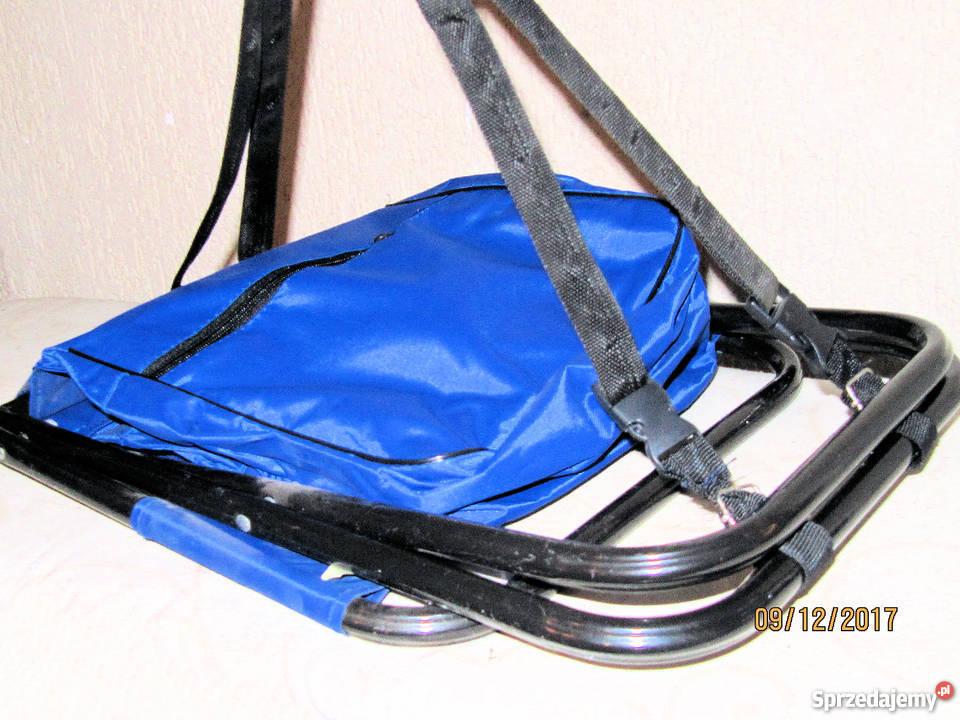 Krzesełko wędkarskie z oparciem i plecakiem opolskie Nysa