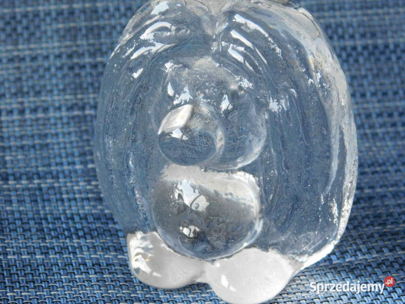 Szklany ręcznie robiony trol Bergdala Szwecja nr 474 Fiaf
