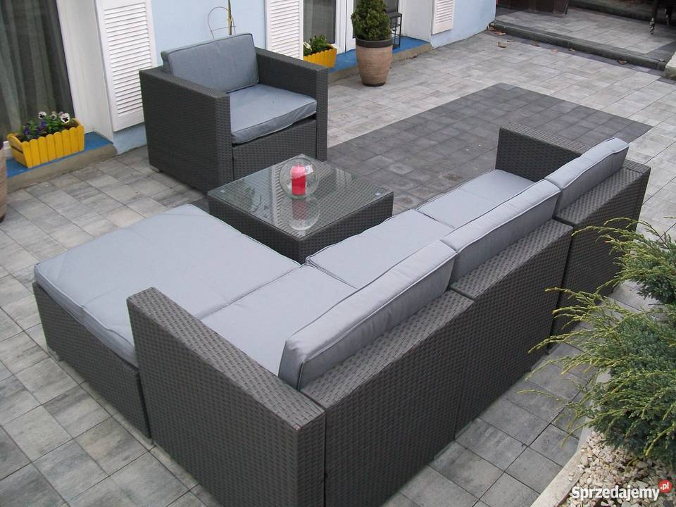 sofa fotel naroznik zestaw mebli technorattan Bosutów