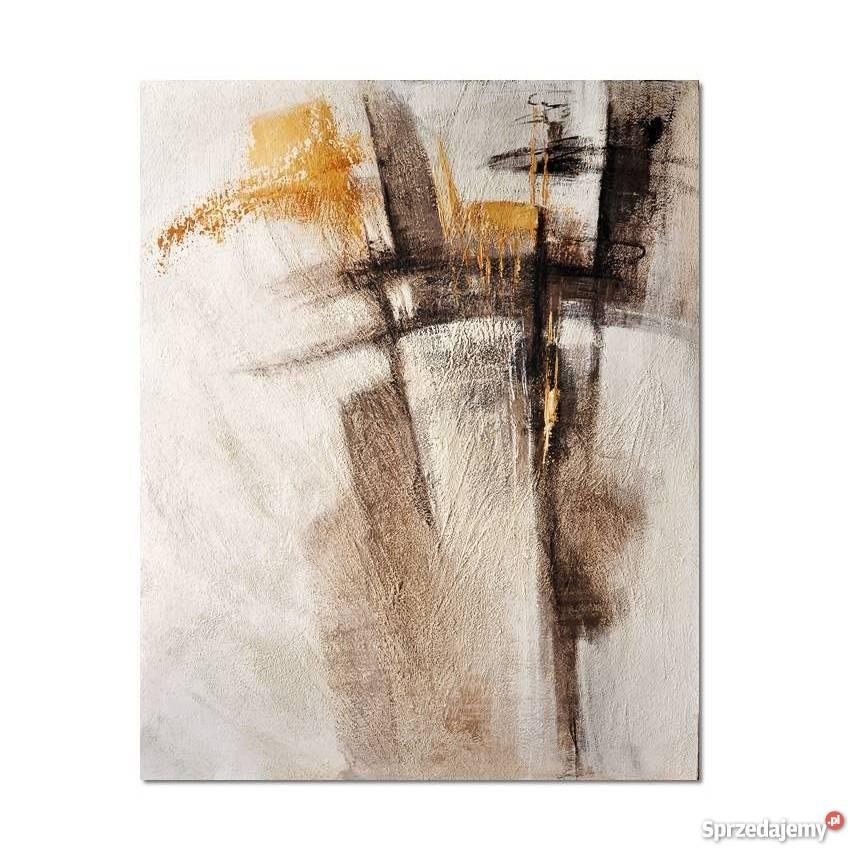 Abstrakcja RBB1 nowoczesny obraz ręcznie beżowy Malbork