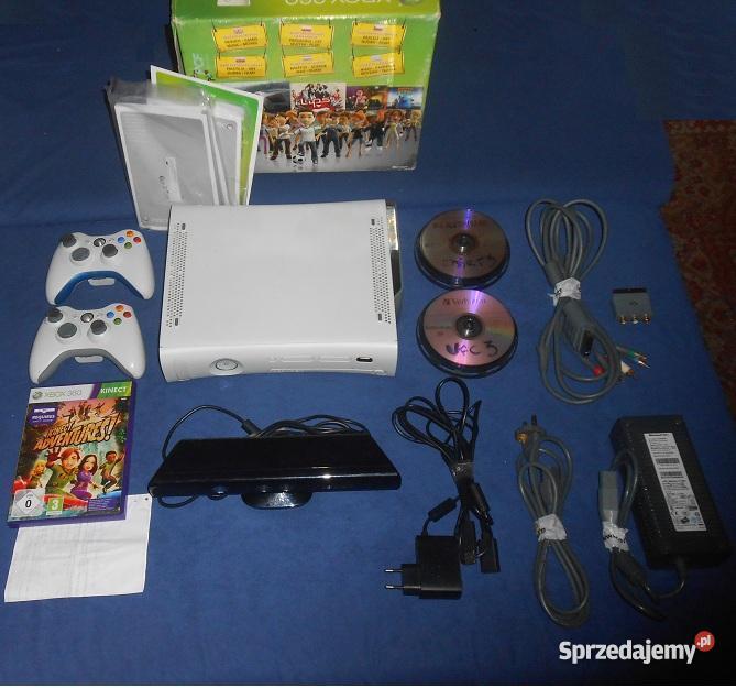 Xbox 360 Hdmi Dysk Kinect 22 Gry 2 Pady Zestaw Dla Dwoch