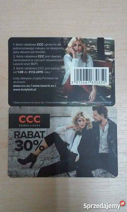 Karta Rabatowa Ccc 30 Jesien Zima 2015 Gniezno Sprzedajemy Pl