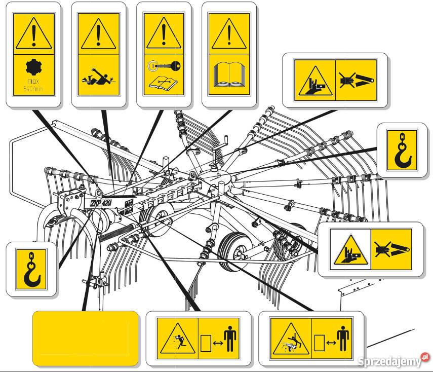Bardzo dobra Wszystkie naklejki na maszyny Naklejki piktogramy ostrzegawc NO31