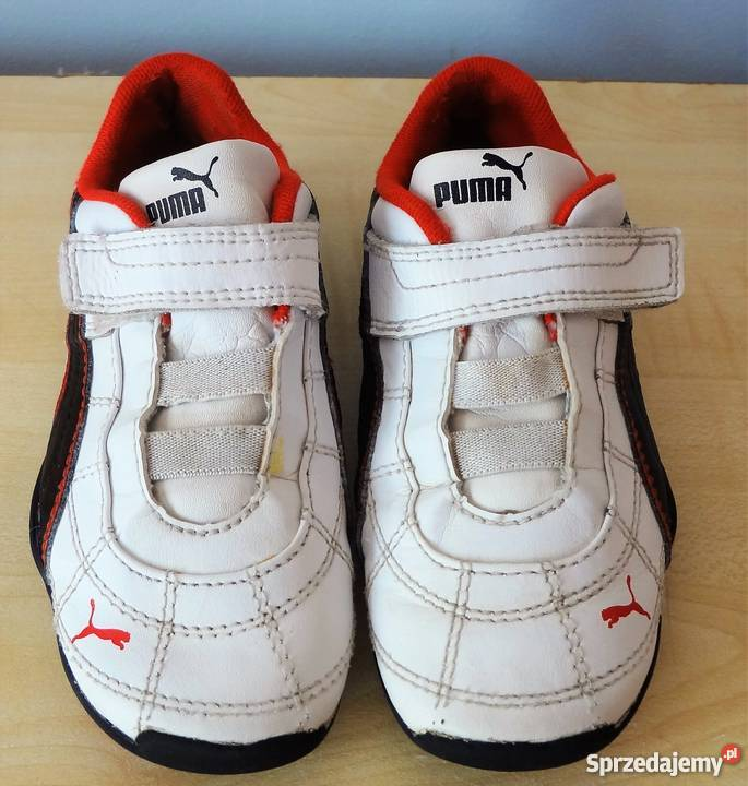 Adidasy PUMA 27 na rzep gumkę buty sportowe białe 17 cm