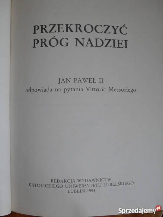 Przekroczyć próg nadziei Jan Paweł II mazowieckie Warszawa
