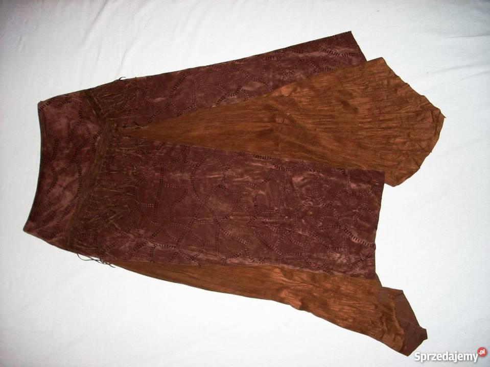 Długa Spódnica Frędzle Imitacja Zamszu 38 M Nowy Sącz