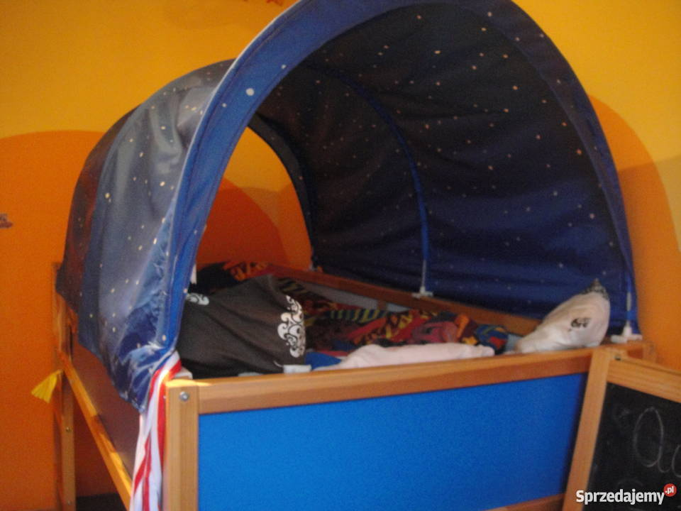 Dwustronne Piętrowe łóżko Ikea 90x200 Materac I Baldachim