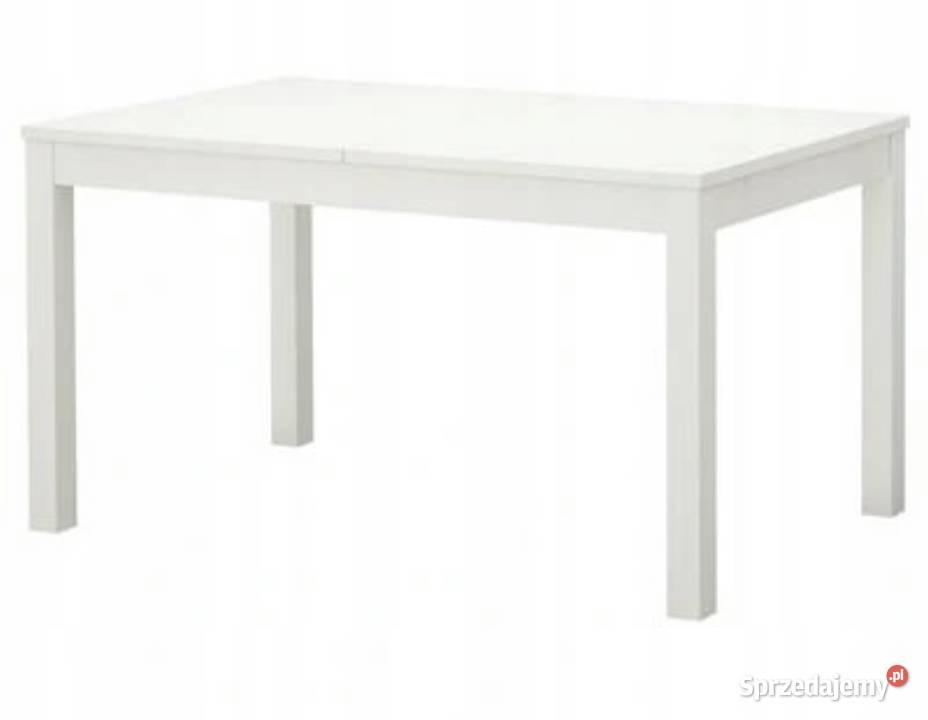 Duży Stół rozkładany Biały Ikea Bjursta