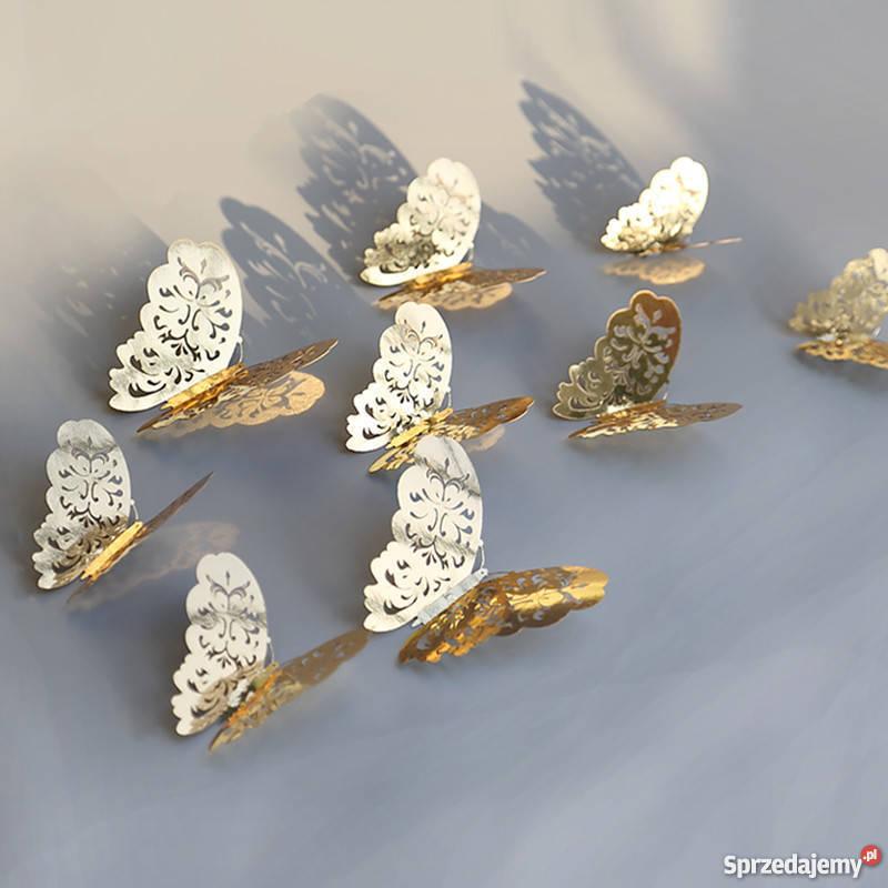 Motylki 3D Naklejki Dekoracja ślub Motyle Wrocław
