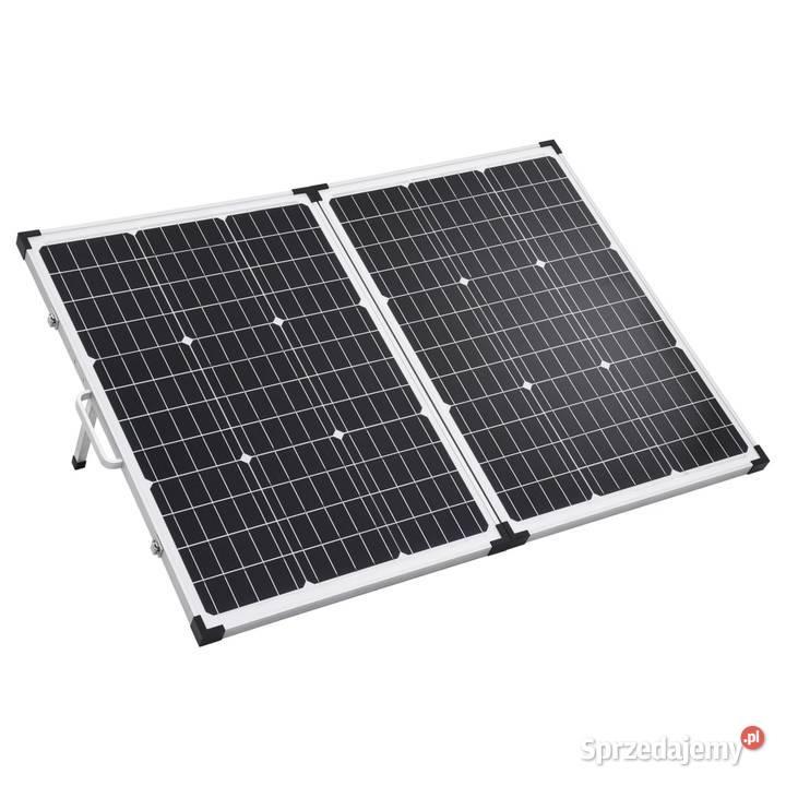 vidaXL Składany panel solarny, walizkowy, 120 W, (92005)