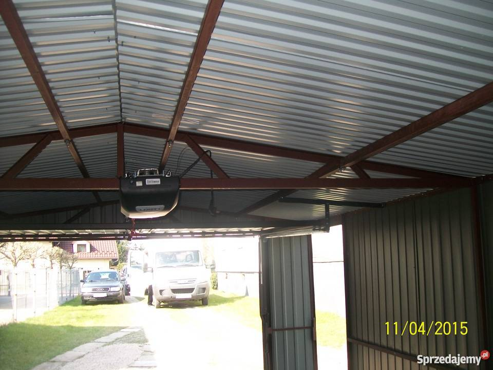 garaż blaszany 6x4 4x6 orzech złoty dąb