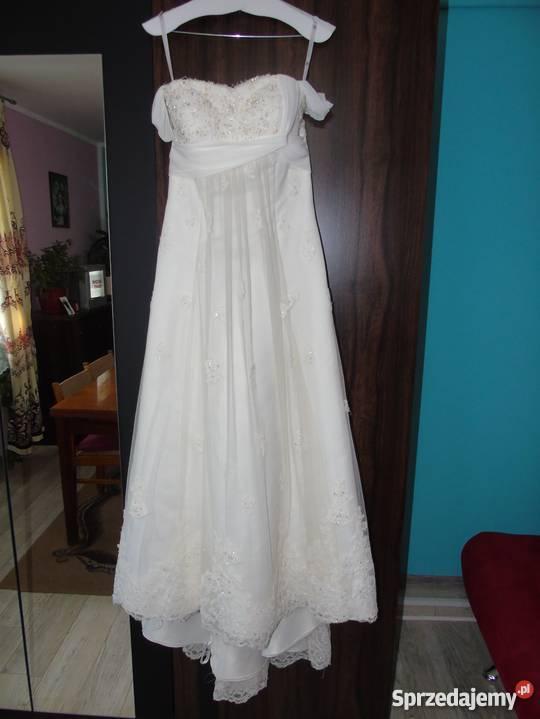 78794bb8e6 piękna suknia ślubna z welonem bolerkiem halką Lublin