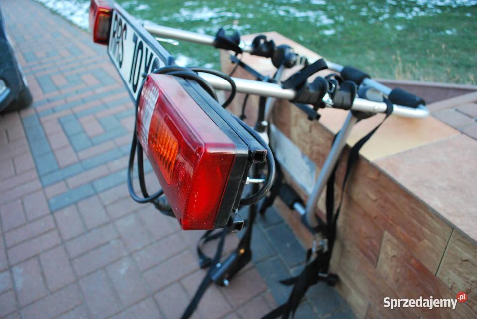 Bagażnik na 3 rowery ze światłami