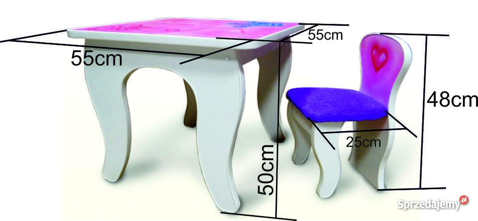 Zestaw Stolik I Krzesełka Dla Dziewczynki Z Bajecznym Malowidłem