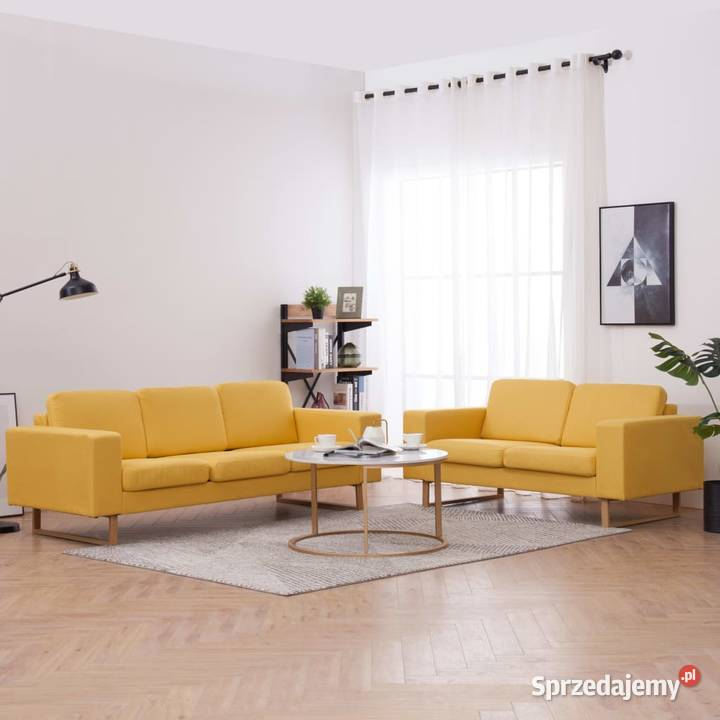 vidaXL Zestaw 2 sof tapicerowanych tkaniną, 276864