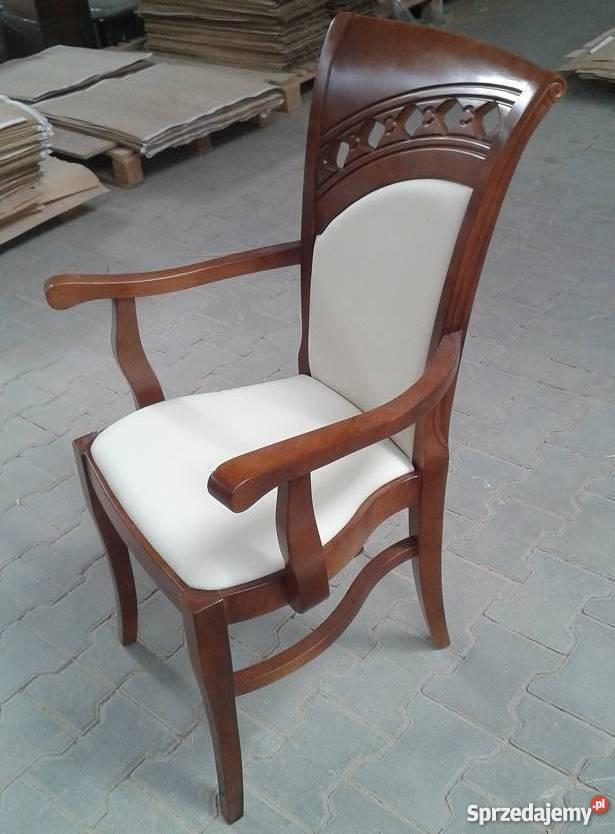 krzesła drewniane z podłokietnikami Sprzedajemy.pl