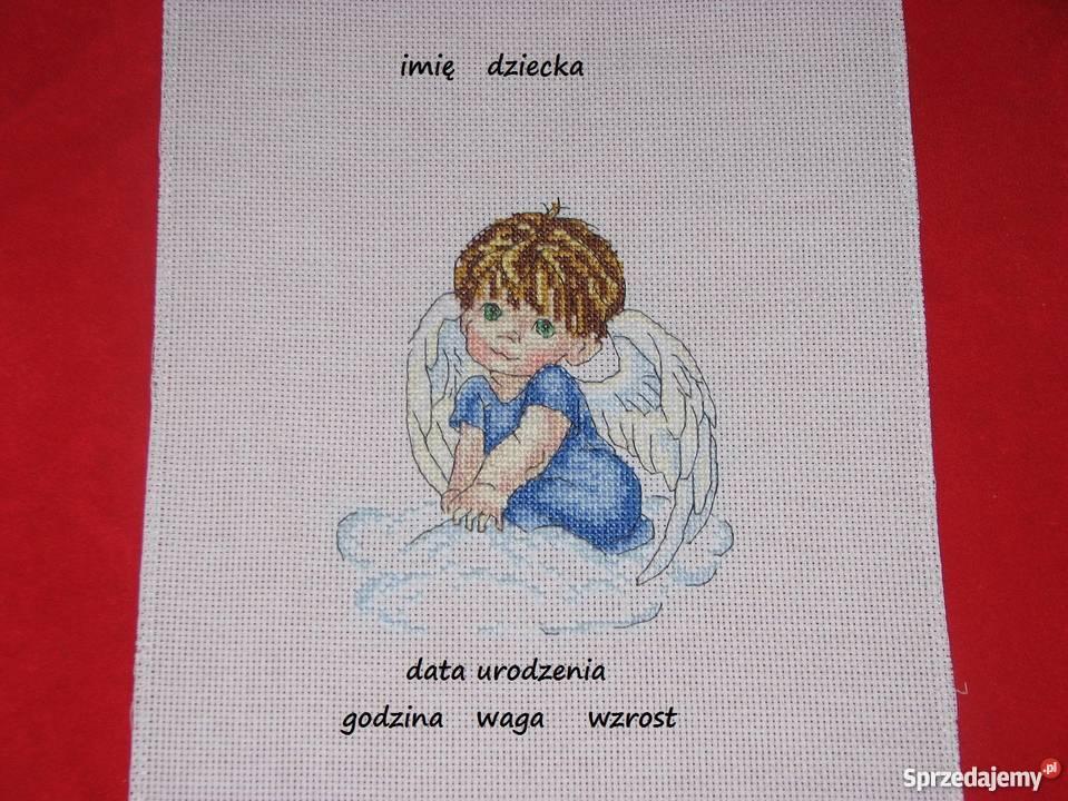 Aniołek haft krzyzykowy Dekoracje i ozdoby