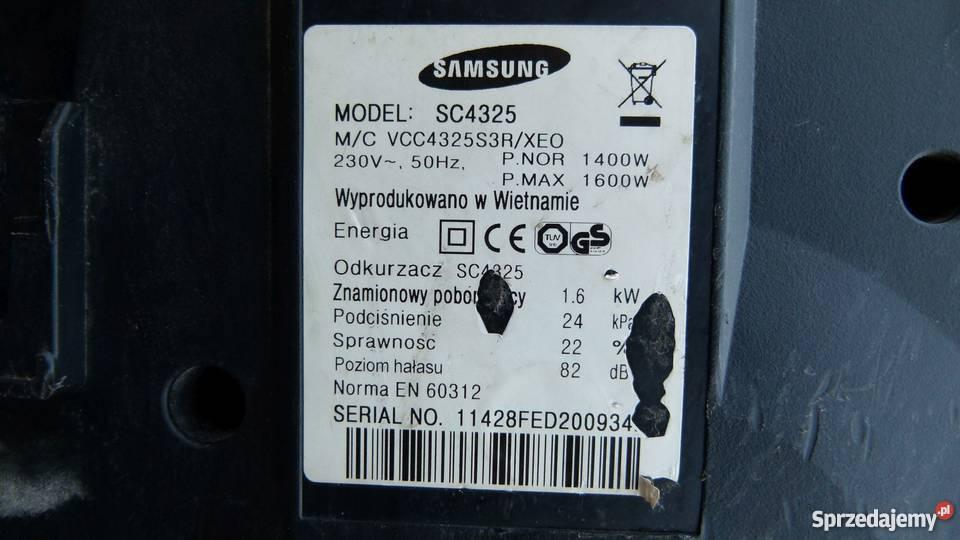 Odkurzacz Samsung VCMA15QS SC4325 rozebrany Zamość