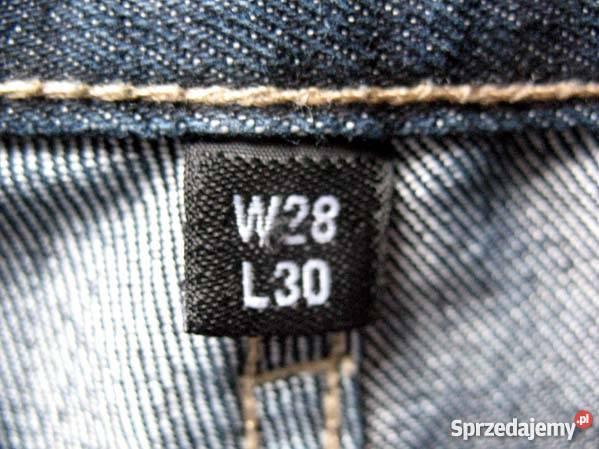 DENIMco JEANS dżinsy spodnie W 28 L 30 pas 77 Siedlce