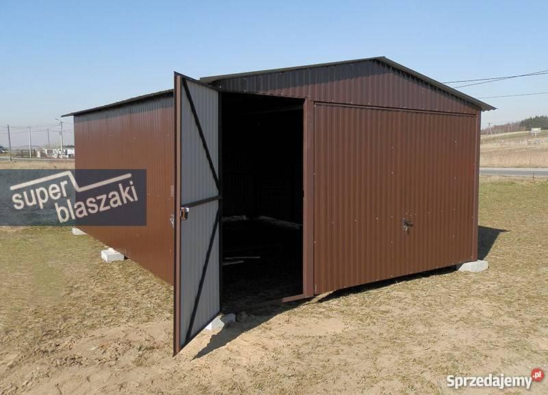Garaż blaszany 4x6 8017 wzmocnione garaże