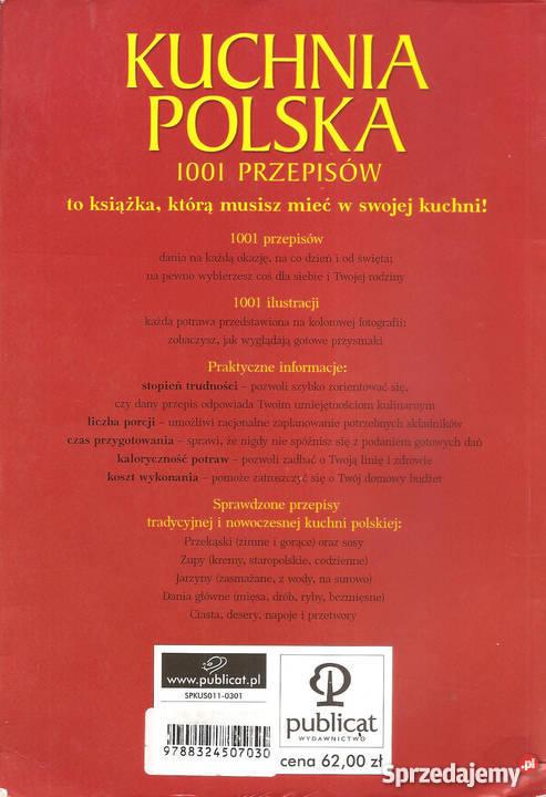 Kuchnia polska 1001 przepisów Ewa Aszkiewicz wyd Książki i Podręczniki