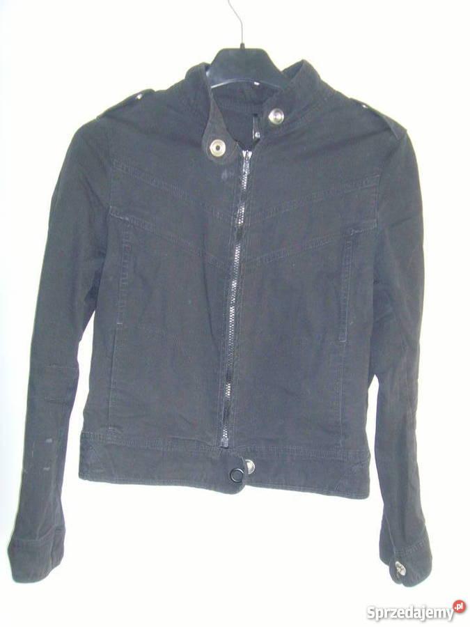czarna krotka kurtka damska h&m