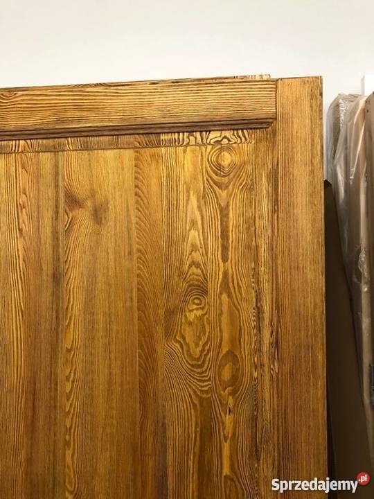 Drzwi postarzane ręki rustykalne ryflowane Grzybno