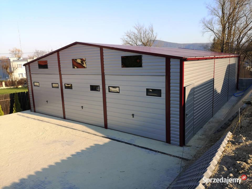 3-Stanowiskowy Garaż 10x12 Blaszany Okna Automatyczne bramy