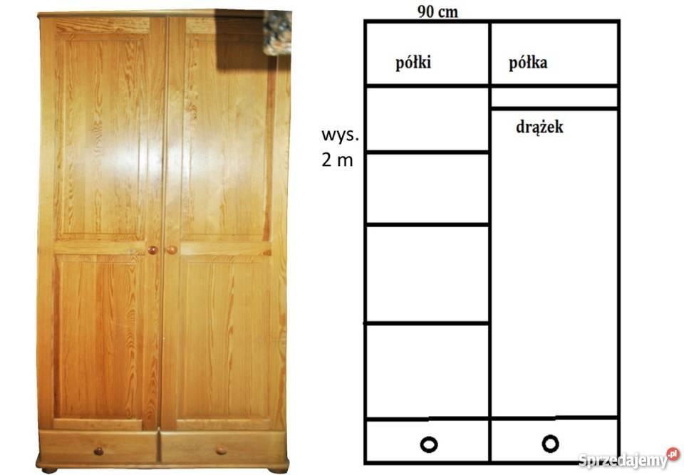 meble drewniane sosna lita sosnowe szafy 2 komody