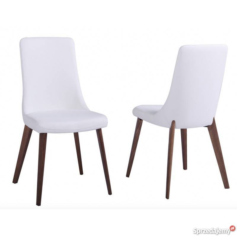Krzesło Białe Salon Jadalnia Kuchnia