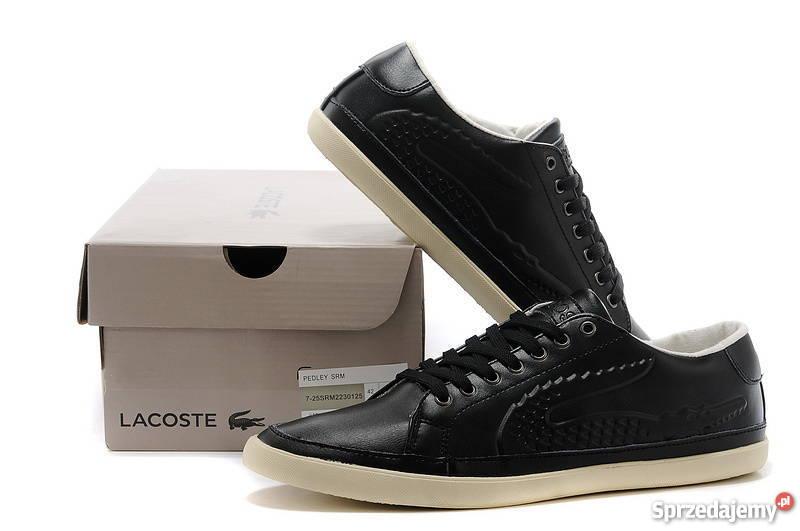 a514895a240b6 Lacoste buty męskie skóra czarne 40 41 42 43 44 45 w. gratis ...