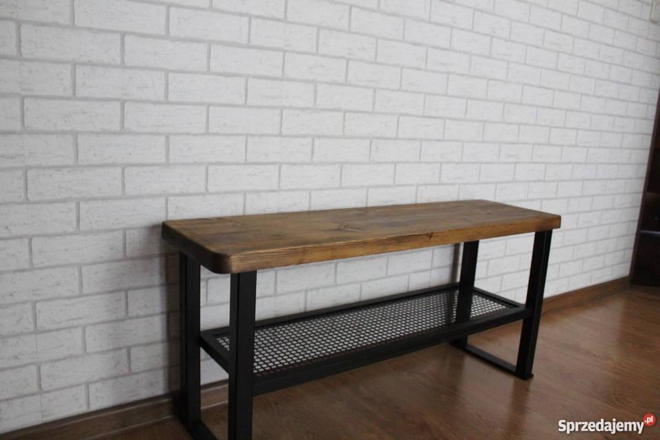 Loft Komplet Do Przedpokoju ławka I Wieszak Drewno Prawdziwe