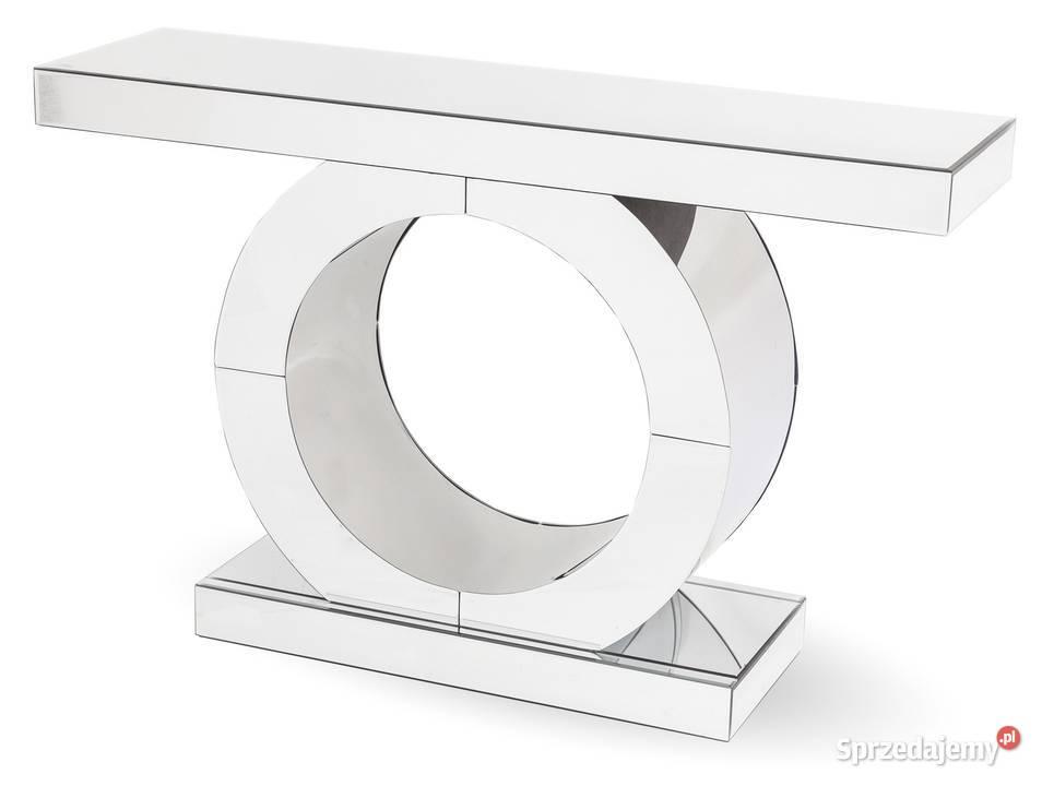nowoczesna konsola lustrzana glamour stolik komoda 119345