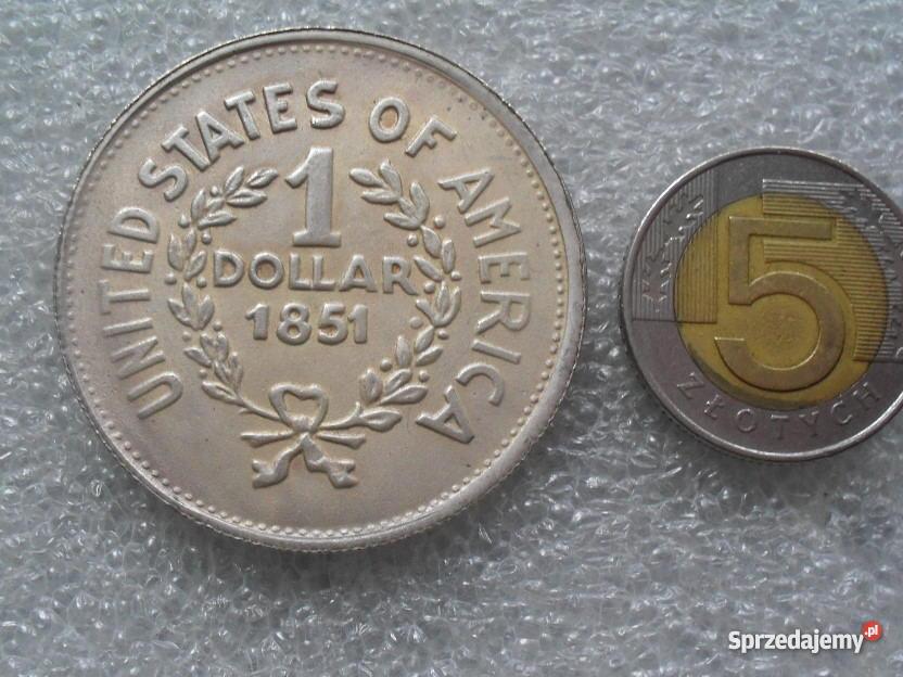 SREBRNA MONETA 1 DOLAR 1851 Oława