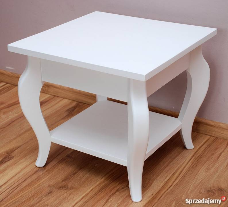 Biały Stolik Kawowy ława Stół
